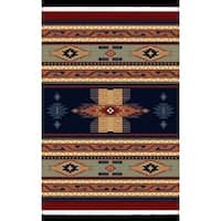 Manhattan Phoenix Navy Area Rug (6'6 x 9'10) - 6'6 x 9'10