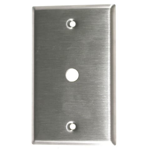 Leviton 004-84061-04 Single Gang Stainless Steel Phone & Cable Wallplate