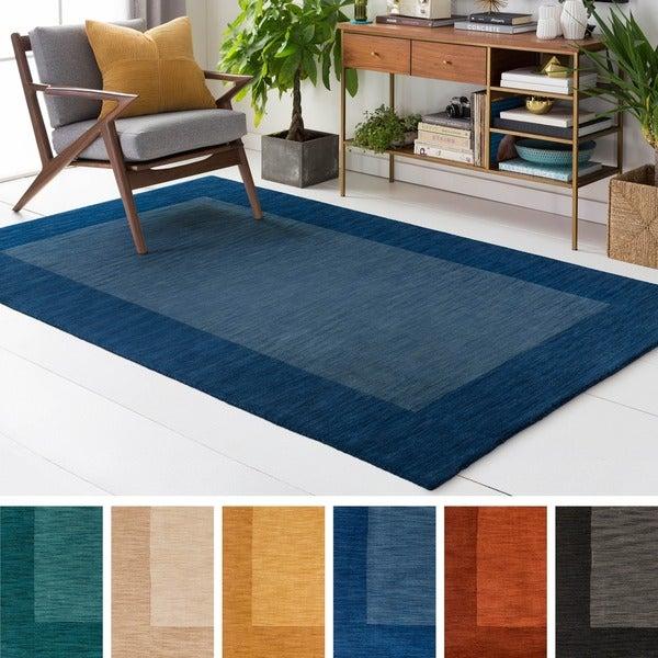 Hand Loom Quail Wool Rug (4' x 6') - 4' x 6'