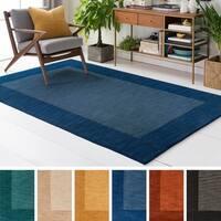 Hand Loom Quail Wool Rug (8' x 10') - 8' x 10'