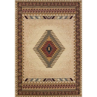 Manhattan Tucson Cream Polypropylene Area Rug (6'6 x 9'10)