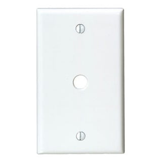 Leviton 001-88013 Single Gang White Phone Jack Wallplate