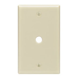 Leviton 001-86013 Single Gang Ivory Phone Jack Wallplate