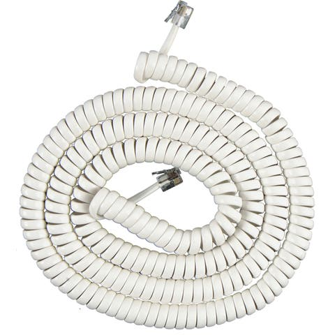 GE Jasco 76122 25' White Phone Cord