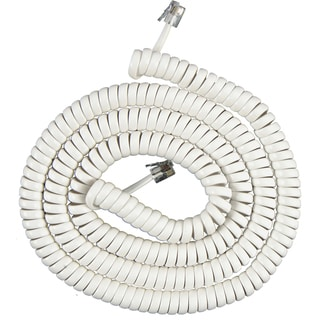 GE Jasco 76122 25' White Phone Cord