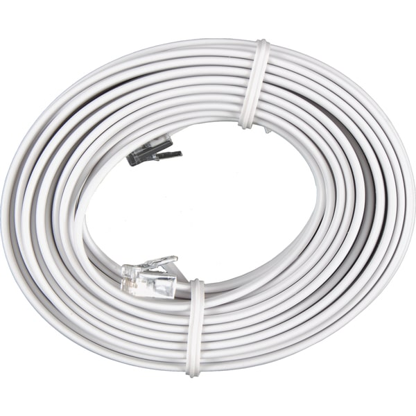 shop ge jasco 76119 25 u0026 39  white phone cord