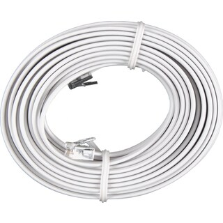 GE Jasco 76119 25' White Phone Cord