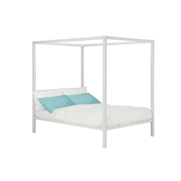 DHP Modern White Metal Full Canopy Bed   Free Shipping Today    Overstock com   18679992. DHP Modern White Metal Full Canopy Bed   Free Shipping Today