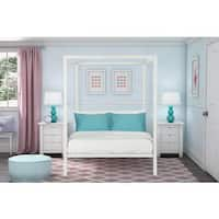 Havenside Home La Porte Modern White Metal Full Canopy Bed