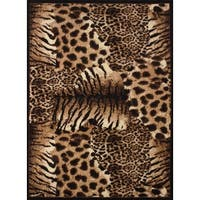 Legends Painted Skins Polypropylene Area Rug (9'2 x 12'6) - 9'2 x 12'6