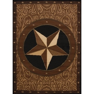 Legends Ranch Star Polypropylene Area Rug (6'6 x 9'10)