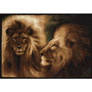 Legends Lion Profile Area Rug (4'9 x 6'10)