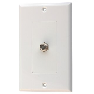 Black Point Products Inc BV-032-WHITE Single F White Video Jack Wall Plate