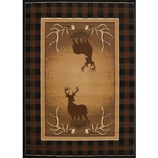 United Weavers Legends Antler Buck Area Rug (4'9 x 6'10)