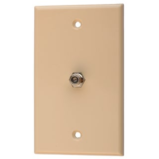 Black Point Products Inc BV-029-IVORY Ivory Coaxial TV Wall Plate