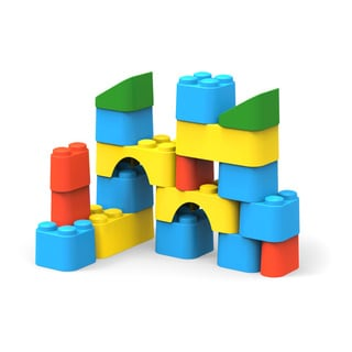 Green Toys Multicolor Recycled Plastic Block Set