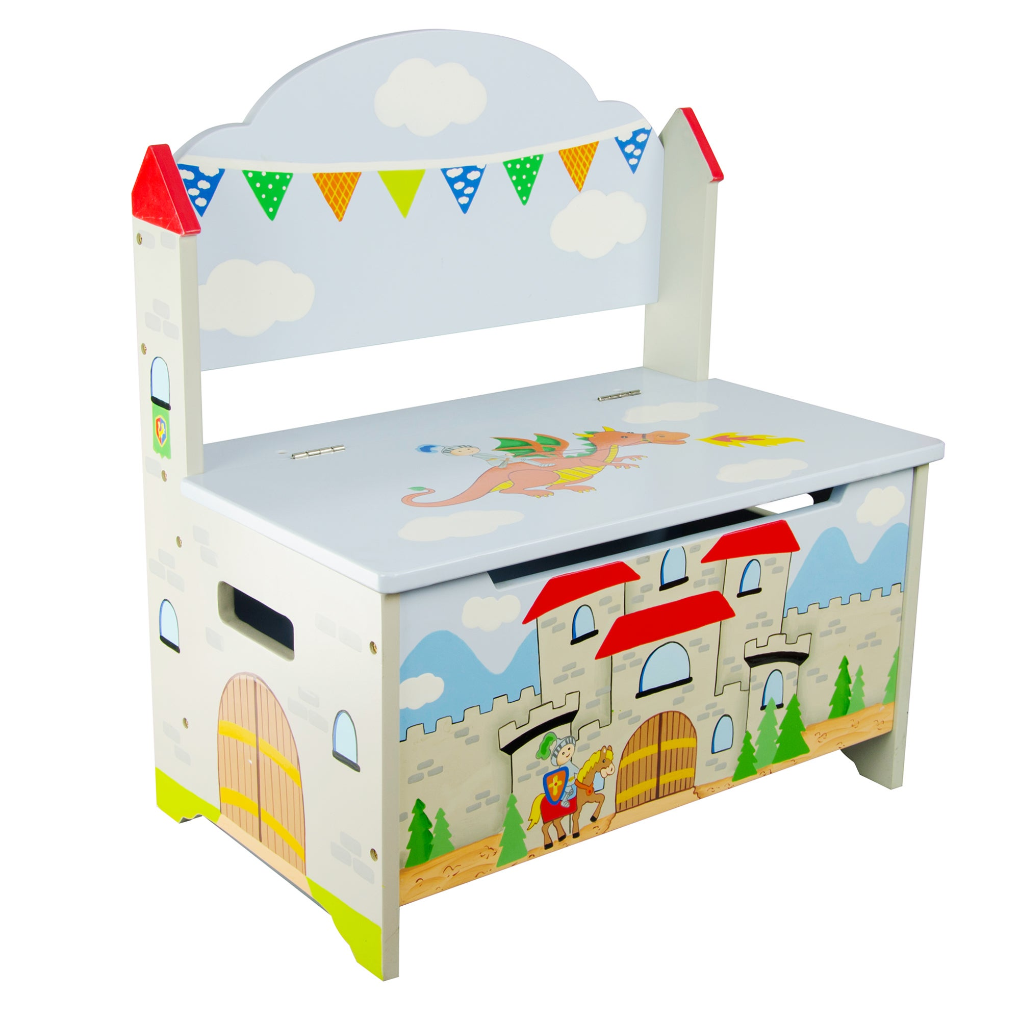 Teamson Fantasy Fiedls Knights and Dragons Storage Bench ...