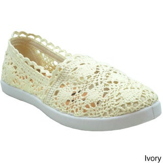 Tami Hope Women's Crochet Flat Boat Shoes