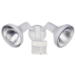 Heath Zenith White Metal Security Spotlight Motion-Sensing PAR 38 120 watts