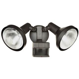 Heath Zenith Bronze Floodlight Motion Sensor Motion-Sensing Par 38 120 volts 120 watts