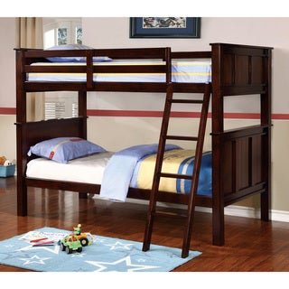 Furniture of America Karey Contemporary Dark Walnut Bunk Bed