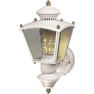Heathco HZ-4150-WH White Charleston Style Motion Activated Decorative Lantern
