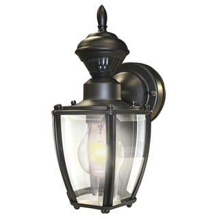 "Heathco HZ-4170-BK 11"" X 6"" Black Motion Activated Outdoor Wall Light"