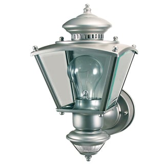 Heathco HZ-4150-SV Silver Charleston Style Motion Activated Decorative Lantern