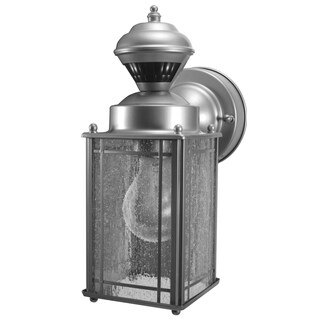 Heathco HZ-4133-SV Silver Mission Style Motion Activated Security Lantern