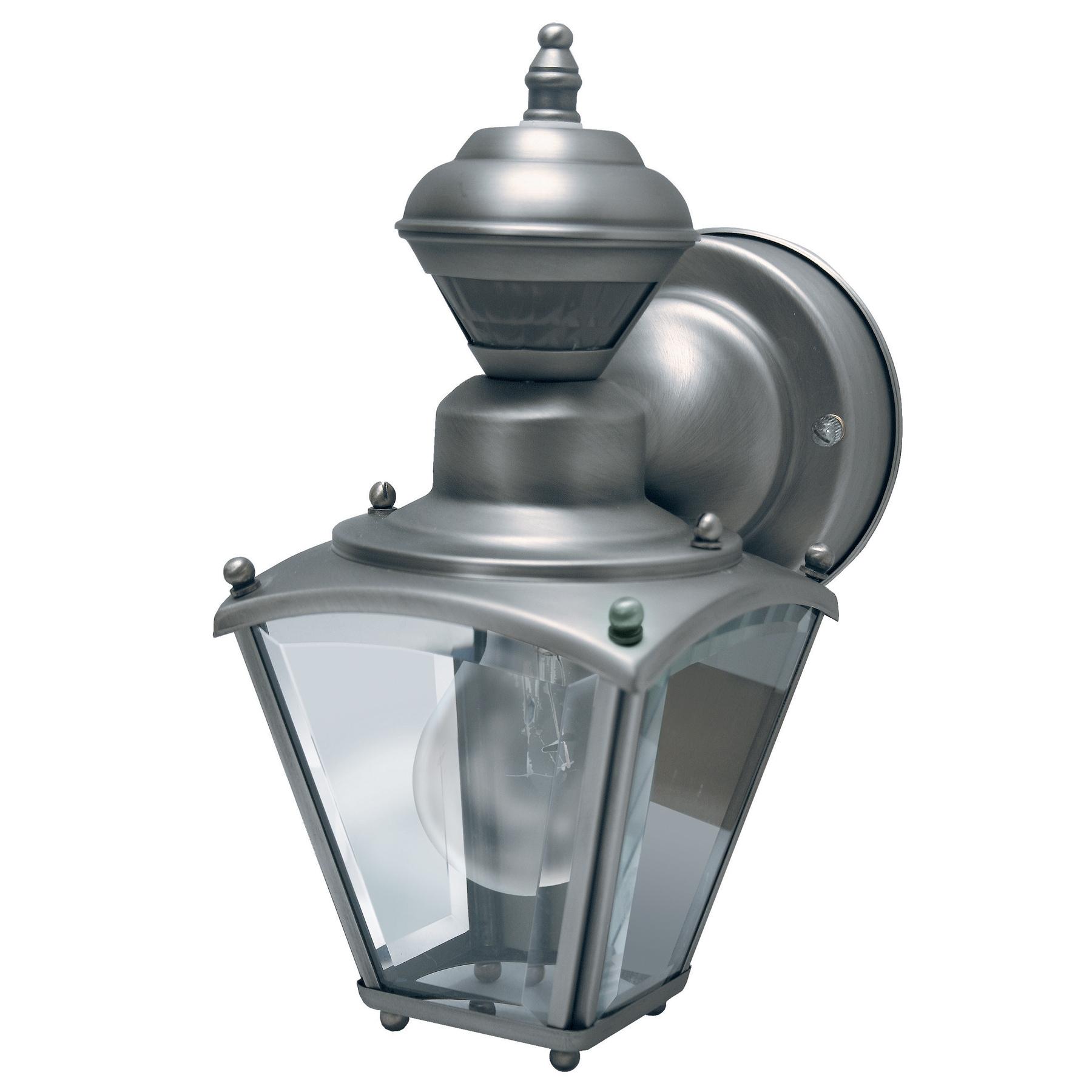 HeathCo Heath Zenith Silver Pewter Wall Lantern Motion-Se...