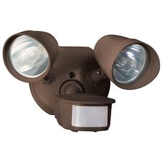 Designers Edge L6010BR Bronze Twin Head Halogen Security Light