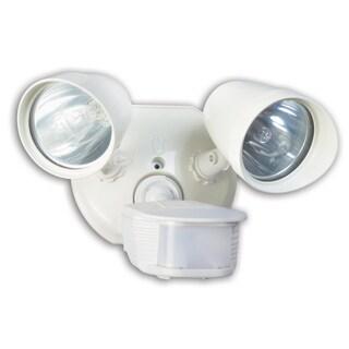 Designers Edge L6010WH White Twin Head Halogen Security Light