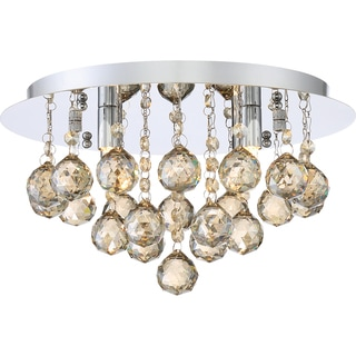 Quoizel Platinum Collection Bordeaux With Amber Crystal Medium Flush Mount
