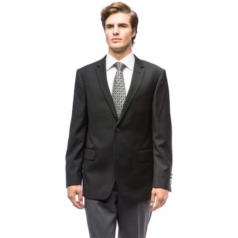 Men's Black Wool Blazer