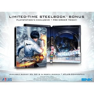 KING OF FIGHTERS XIV STEELBOOK EDITION(GAME & LIMITED TIME STEELBOOK) - PS4
