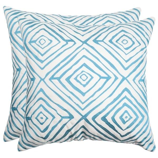 Safavieh Diamonds Five 40Inch Light Blue Cream Decorative Throw Mesmerizing Light Blue Decorative Throw Pillows