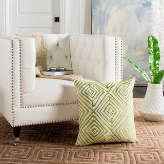 Safavieh Diamonds Five 20-Inch Sweet Green / Cream Decorative Throw Pillow (Set of 2)