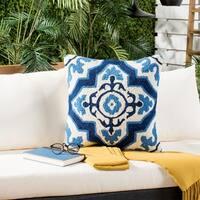 Safavieh Marbella 20-Inch Marine Decorative Throw Pillow (Set of 2)