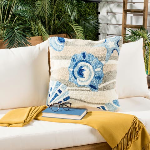Safavieh Beyond The Sea 20-Inch Marine Decorative Throw Pillow (Set of 2)
