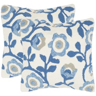 Safavieh Provence Floral 20-Inch Marine Decorative Throw Pillow (Set of 2)