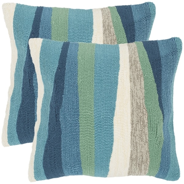 Safavieh Ocean Abstract 20-Inch Sea Decorative Throw Pillow (Set of 2)