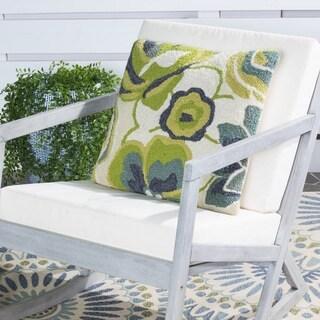 Safavieh Jacobean Floral 20-Inch Lime Decorative Throw Pillow (Set of 2)