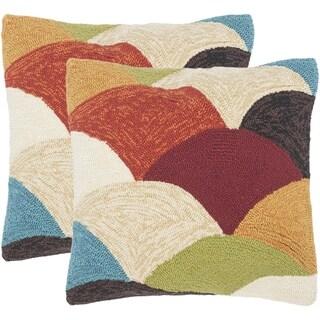 Safavieh Riainbow Mountain 20-Inch Rainbow Decorative Throw Pillow (Set of 2)