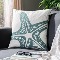 Safavieh Whitney 22-Inch Blue Decorative Throw Pillow (Set of 2)