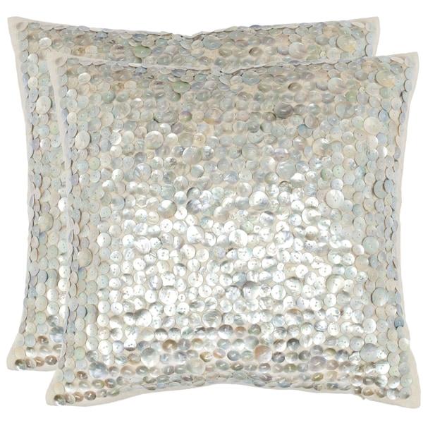 shop safavieh dialia 22 inch silver decorative throw. Black Bedroom Furniture Sets. Home Design Ideas
