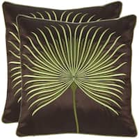 Safavieh Leste Verte 22-Inch Green Decorative Throw Pillow (Set of 2)