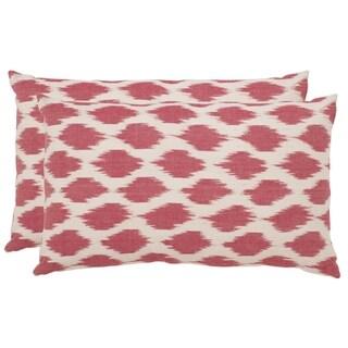 Safavieh Polka Dots 20-Inch Rose Decorative Throw Pillow (Set of 2)