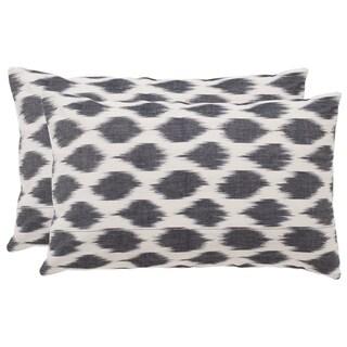 Safavieh Polka Dots 20-Inch Charcoal Decorative Throw Pillow (Set of 2)