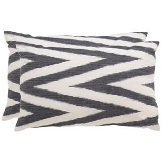 Safavieh Chevron 20-Inch Charcoal Decorative Throw Pillow (Set of 2)