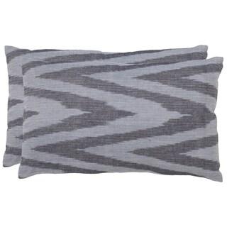 Safavieh Chevron 20-Inch Silver Decorative Throw Pillow (Set of 2)